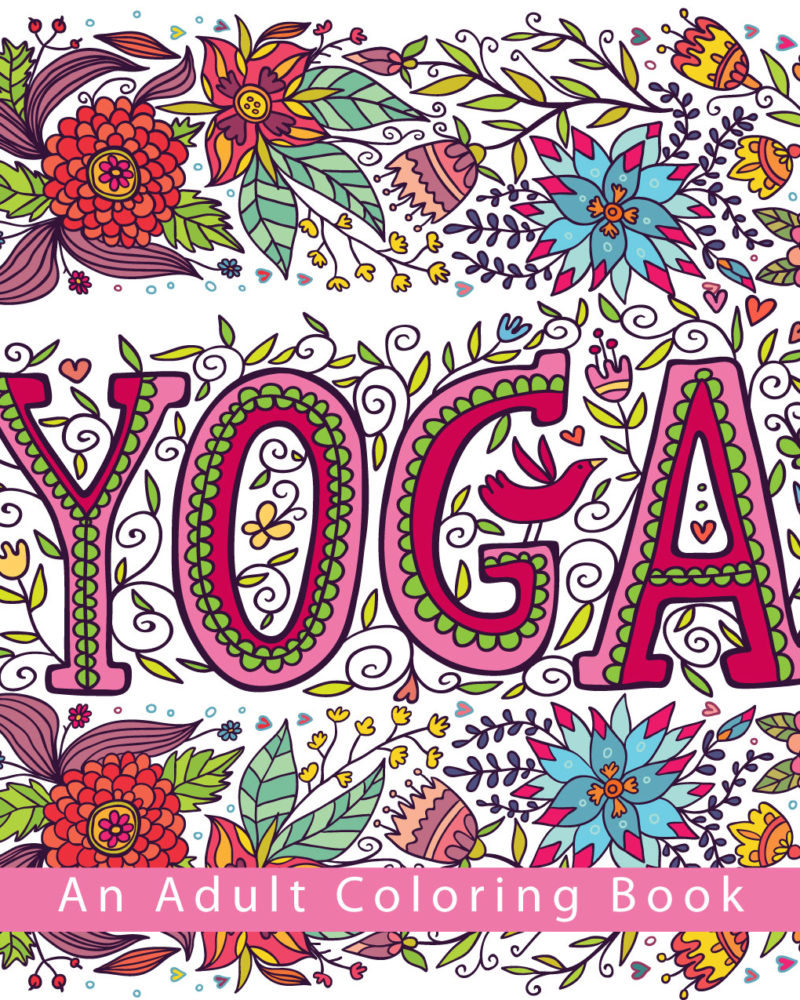 Yoga - An Adult Coloring Book Front Cover