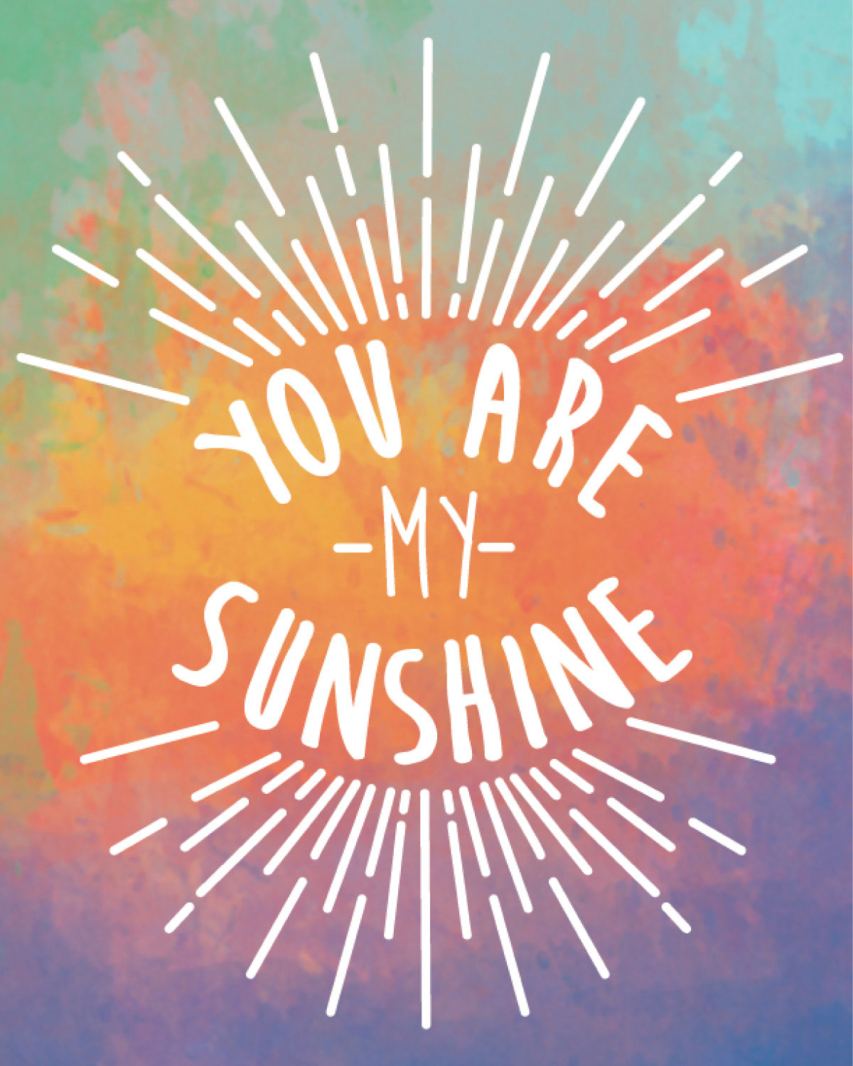 Cover the You Are My Sunshine Journal