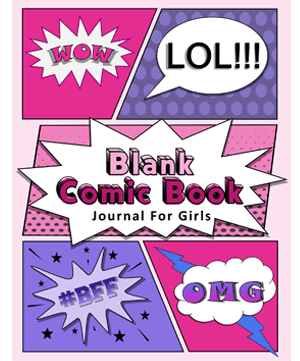 A journal cover with a comic book style