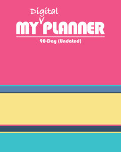 Cover of a digital planner from Cute Notebooks + Journals
