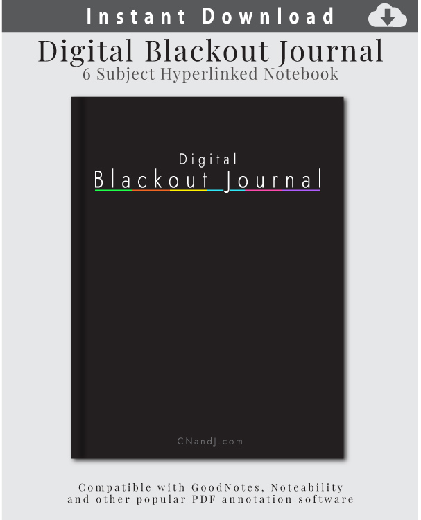 The link to download a digital black paper journal